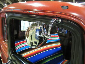 4 Inch Peep Mirror With L e d Light For Hot Rods Coupes Roadsters Custom Car