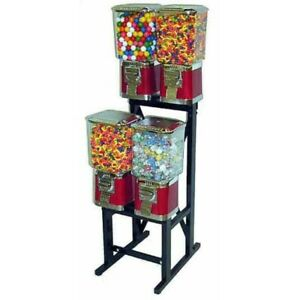 4 Pro Line Vending Machines On Black Rack Stand
