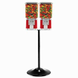 Two Pro Line Gumball Vending Machines On Double Cast Iron Stand
