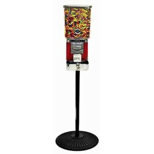 Tough Pro Gumball Vending Machine On Black Cast Iron Stand