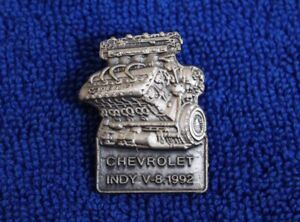 Chevrolet Indy V 8 Engine Hat Lapel Pin Accessory Gm Vette Camaro 1992 Impala