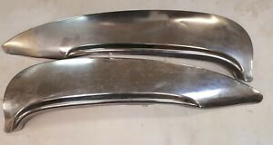 1960 Ford And Edsel Satin Finish Flush Mount Rear Fender Skirts With Flare Steel