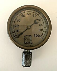Antique Vintage Ashcroft Steam Pressure Gauge Steampunk