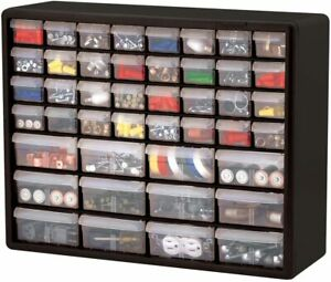 Garage Storage Parts Cabinet 44 Drawer Bins Nuts Bolts Workshop Office Organizer