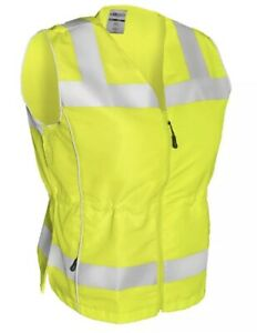 Ml Kishigo Class 2 Reflective Ladies Safety Vest With Pockets Yellow lime S