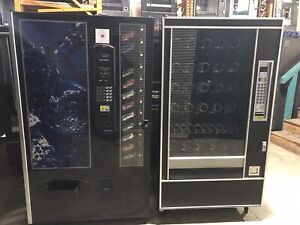 Set Of 2 Vending Machines Combo Ap 7600 Snack And Cb700 Soda Free Shipping