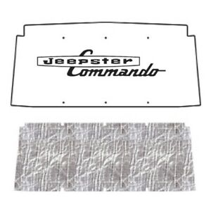 Hood Insulation Pad Heat Shield For 1966 1973 Jeep Jeepster Commando With J 030