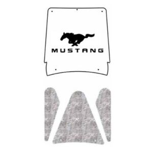 Hood Insulation Pad Cover For 1999 2004 Ford Mustang Coupe Acoustihood Kit