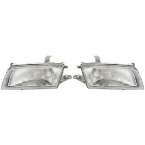 Fits 1997 1998 Mazda Protege Pair Head Lights Driver And Passenger Side
