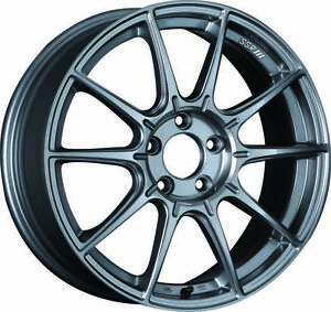 Ssr Gtx01 18x8 5 5x100 44mm Offset Dark Silver Wheel Fits 02 05 Wrx