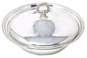 Towle Silverplate Covered Casserole Bowl W Glass Insert 12 D