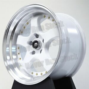 Mst Mt 07 18x8 5 18x9 5 20 Staggered 5x114 3 5 Spoke Candy White W Rivet Wheels