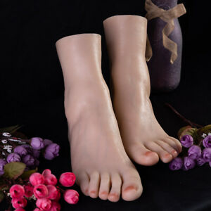 Female Silicone Foot Mannequin One Right Or Left Female Feet Display Model
