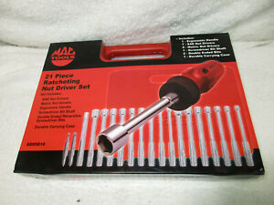 Mac Tools Sd95810 21 Piece Ratcheting Nut Driver Set New In Box