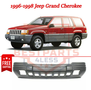 Front Bumper Cover For 96 98 Jeep Grand Cherokee W Fog Lamp Holes Primed