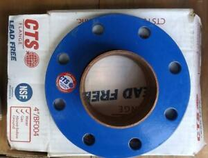 4 Copper Flange Lead Free For Water Or Gas Above Or Below Ground Bf004