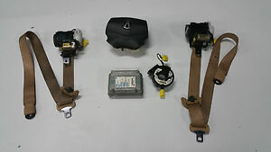 2004 2005 2006 Acura Tl Air Bag Airbag Driver W Seat Belts Tan 04 05 06 2