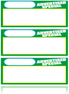 Bulk Case Of 3 000 Advertised Special Retail Store Sale Price Tags Signs Cards