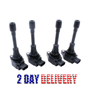 4pcs Ignition Coil Set For Nissan Altima Rogue Sentra Infiniti Qx60 22448 Ed000