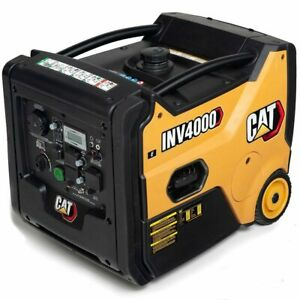 Cat Inv4000 E Co 3200 Watt Electric Start Portable Inverter Generator W Co