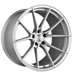 4 22 Staggered Vertini Wheels Rfs1 2 Silver Brushed Rims b8