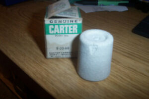 Nos Carter Fuel Filter In Glass Bowl F 30 60