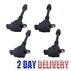 4pcs Ignition Coil Pack For 02 13 Nissan X Trail Sentra Altima 2 5l 22448 8h311