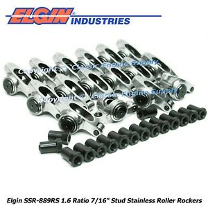 Stainless Steel Roller Rocker Arms 1 6 Ratio 7 16 Studs Ford 289 302 351w
