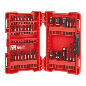 Milwaukee 48 32 4006 Shockwave Alloy76 Impact Duty Drill And Drive 40 Piece Set