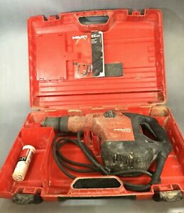 Hilti Te60 avr Rotary Hammer Drill No Forward Handle Tested Works With Case
