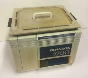 Branson 5200r 4 Heated Ultrasonic Cleaner W Basket 5200 r4 5200 5200r