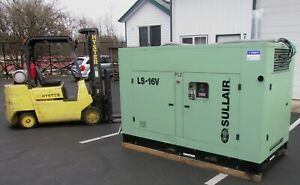 Sullair 75 Hp Rotary Screw Air Compressor Ls16v Variable Speed Drive