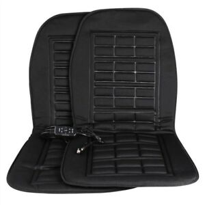 2 Pack 12v Universal Electric Car Heating Warmer Pad Heated Seat Cushion Cover