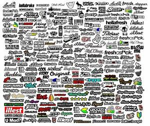 Jdm 50 Random Car Stickers Bulk Wholesale Pack Lot Tuner Race Drift Mosog344r