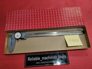 American Made Starrett 12 Inch Nib Jaw Dial Caliper 120b Machinist Tools P443
