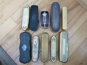 10 Ornate Misc Antique Vanity Hairbrushes Vintage Victorian Sterling Silver