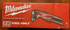 Milwaukee 3 8 Cordless Right Angle Grinder 12v 2415 20 Tool Only Brand New