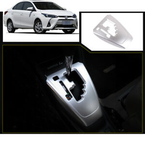 For Toyota Vios Yaris 2017 2020 Silver Central Console Gear Shift Panel Trim