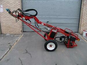 General 660 Hydraulic Tow Behind One Man Auger Honda Motor Works Fine 3