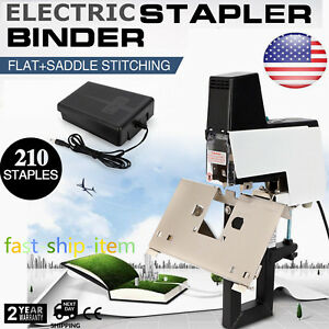 Electric Stapler Dual use Flat saddle Binder Machine Stitching Saddle Convert Us