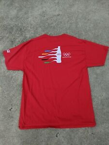 Rio 2016 Coca Cola Olympics Worldwide Partner Red T Shirt Size XL Short Sleeve
