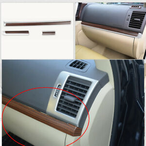 For Toyota Land Cruiser 2008 2019 Abs Wood Grain Middle Console Strip Cover Trim