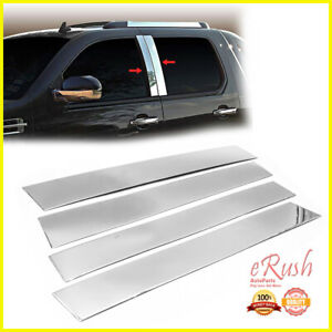 Chrome Stainless Steel Pillar Posts For 2007 2014 Cadillac Escalade 4pcs Set