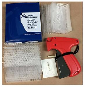 Fine Garment Tagging Kit Fine Gun With Needle 1000 Barbs For Fabric Tagging