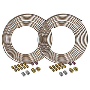 4lifetimelines Copper nickel Brake Line Coils And Fittings 2 Kits 3 16 X 25