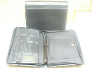 Lot Of 2x 3 ring Binders Spine Medical Student Professional Zippered Leather Poc