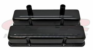 Aluminum Stamped Tall Valve Covers Chevy Sb Circle Track 283 400 Black