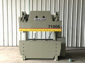 Accurpress 71006 Press Brake Capacity 100 Tons Bed Lenght 6