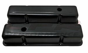 Aluminum Stamped Tall Valve Covers Chevy Sb 283 350 Black