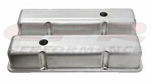 Aluminum Stamped Tall Valve Covers Chevy Sb 283 350 Raw